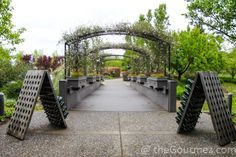 The walkway arch into @JWinery 's Bubble Room heralds the beauty to come on the plate and in the glass. Review @ the link. #wine #travel #arch