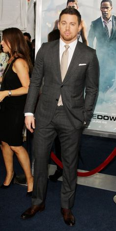Channing Tatum gave us all the eye candy we needed at the New York Premiere for White House Down.