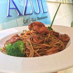Asian Pasta with ginger, shrimp and leek of our restaurant Azul of our Hodelpa Caribe Colonial #hodelpahotels #hoteleshodelpa #hodelpaesxpirience #experienciahodelpa #hodelpa #lunch