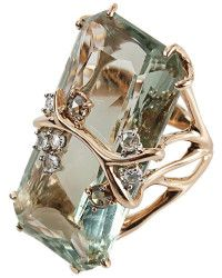 Federica Rettore Antique Cut Green Prasiolite Ring - Lyst