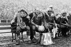 Green Bay Packers, c. 1963.  This may be my favorite NFL photo ever.