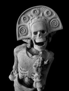 Known as the Mistress of Bones and the Lady of the Dead, she is the Queen of Mictlan, the Aztec Underworld, who still presides over today's Day of the Dead rituals Mayan Symbols, Viking Symbols, Egyptian Symbols, Viking Runes, Ancient Symbols, Chicano Art, Chicano Tattoos, Aztec Culture, Aztec Warrior