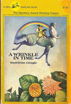 'A Wrinkle In Time' by Madeleine L'Engle---One of my favorite books in the grade & of all time! I Love Books, Great Books, Books To Read, Amazing Books, Ya Books, A Wrinkle In Time, Children's Literature, Fiction Books, Book Worms