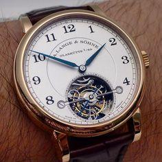 A. Lange & Söhne - A wristshot of the Lange & Söhne 1815 Tourbillon