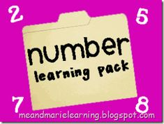 number learning pack