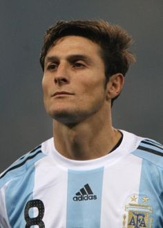 Javier Zanetti del Inter de Milan y la Seleccion Italiana