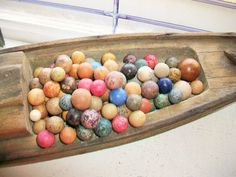 100 Antique Clay Marbles Multi Colored Late by RedRiverAntiques