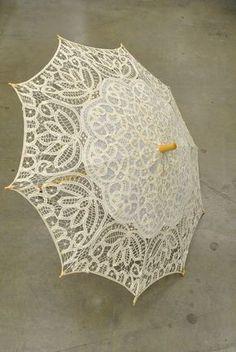 Vintage Crocheted Lace Parasol Umbrella – Romantic Lolita
