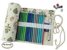 Cre-go Canvas Pencil Wrap, 48 Pencils…