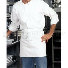 Worn folded in half, get 4 changes before washing! Unisex one size, available in white, red and black. Black Apron, Cool Aprons, Waist Apron, Chef Apron, Cotton Twill Fabric, Chef Jackets, Unisex, Shopping, Style