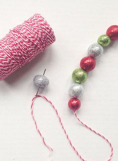 Decorate a Whimsical Christmas Tree With DIY Glittered Ball Garlands