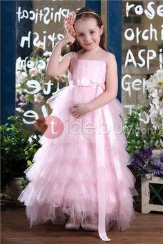 Amoroso Vestido de Damita con Escote Cuadrado Largo Tea con Capas (Envío Gratuito )