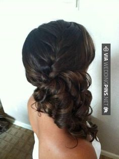 Cool - Side Swept Wedding Hair Hmm maybe side pony with braid so you can see the back of my dress? | CHECK OUT SOME TO DIE FOR IDEAS FOR NEW Side Swept Wedding Hair HERE AT WEDDINGPINS.NET | #sidesweptweddinghair #sideswepthair #weddinghairstyles #weddinghair #hair #stylesforlonghair #hairstyles #hair #boda #weddings #weddinginvitations #vows #tradition #nontraditional #events #forweddings #iloveweddings #romance #beauty #planners #fashion #weddingphotos #weddingpictures
