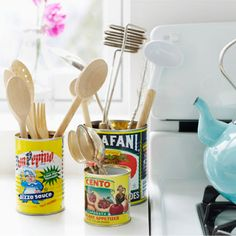 Cool Idea To Make Vintage Kitchen Organizers | Shelterness
