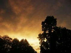 Sunset during a storm.