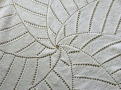This circular blanket is the ideal size for warming your lap on a cool evening, or swaddling a small child. It knits up quickly in the round using chunky yarn The repetition of the radiating arms of the star is easy to follow once established. Eyelet edging prevents the edges from curling.