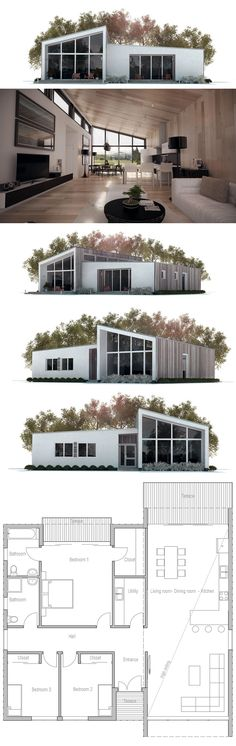 Small House Plan, Floor Plan, Modern Architecture