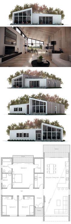Small House Plan, Floor Plan, Modern Architecture