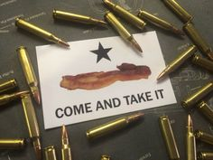 Come and Take it BACON Decal by GunsandBACON on Etsy