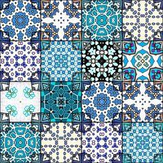 Free Tea Bag Tiles   ... Make you own cards - Tea Bag Tiles in blocks of SIXTEEN (16) tiles