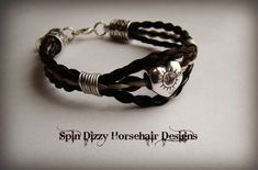 Triple strand horsehair bracelet...I have a Palomino and a Appaloosa, that would make a cool bracelet!