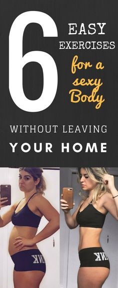 6 Easy Exercises to do for a Sexy body Without Leaving Home. There are exercises that can help you lose belly fat without leaving home. The goal can be achieved by alternating aerobic exercises with those that strengthen the muscles. And this practice can provide benefits that go beyond aesthetics. This is because accumulation of fat in the abdominal region can cause cardiovascular, respiratory and posture problems.