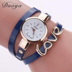 2018 Luxury Watch Quartz Watch Women Love Bracelet Wristwatch Fashion Casual Watches Women Style