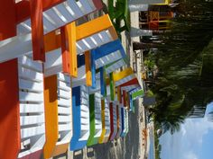 Tipsy Tuna, Placencia, Belize... Hmmm which color chair should I plant myself in???
