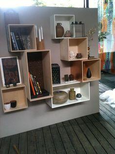 Opstilling af bogkasser