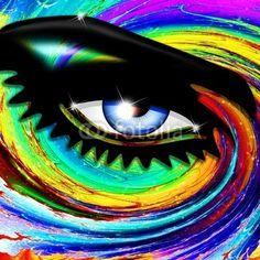 #Hypnotic #Psychedelic #Girl's #Eye © bluedarkat #41766332 -         http://us.fotolia.com/id/41766332