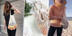 Patron gratuit pour crocheter un sac de courses filet Marie Claire, Diy Laine, Tote Purse, Courses, Knit Crochet, Patron Crochet, Diy Crafts, Knitting, Bags