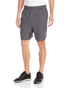 "HEAD Men's Ace Woven 9""Short, Black Heather, Medium - http://www.exercisejoy.com/head-mens-ace-woven-9short-black-heather-medium/athletic-clothing/"