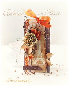 Artis handmade / izabellw - kartki ślubne, okolicznościowe,zaproszenia, pamiątki, albumy, notesy: Jesień w Paryżu