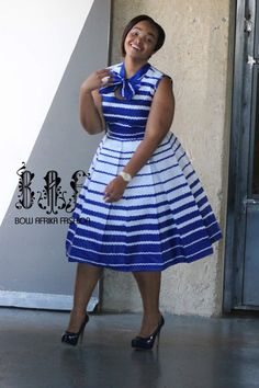 New Vintage African Women Patchwork Bow-knot A-line Dresses Ankara Clothes Bazin Rihce African Print Dresses for Women Short African Dresses, Latest African Fashion Dresses, African Print Dresses, African Print Fashion, Africa Fashion, Ankara Fashion, Kente Styles, African Traditional Dresses, African Attire