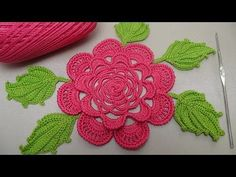 Вязание РОЗЫ для ирландского кружева. Вязание на бурдоне. Rose Crochet - YouTube