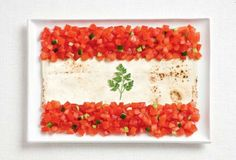 Lebanese flag in food.