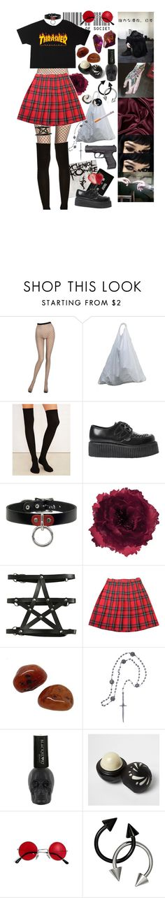 """lech. slipknot."" by askingmychempilots ❤ liked on Polyvore featuring La Perla, Boodles, Wet Seal, CASSETTE, Underground, Accessorize, Pamela Love and River Island"