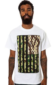 The Stars And Stripes Tee in White by 10 Deep