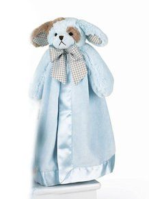 """Waggles Blue Dog Snuggler 15"""" by Bearington. Available at OurPamperedHome.com"""