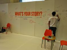 """Yesler """"What's Your Story?"""" back wall at SIC - Seattle Interactive Conference 2014"""