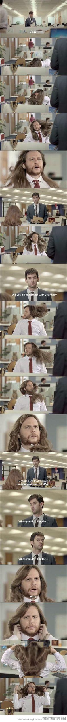 When men use women's shampoo…