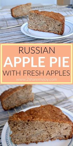 Russian apple pie. The mix of apples, cinnamon, chocolate and nuts is perfect and makes a great fall and winter pie. It is easy to prepare and a good potluck dessert. I didn't add any topping, but you can add chocolate or a frosting.