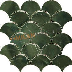 Fan Shaped Black Nero Margiua Stone Mosaics Marble Mosaics Bathroom Wall Tiles MS-FNP046 | Mosaic Tiles China Supplier Milan Mosaic