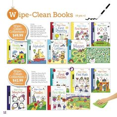 Wipe-Clean activity books are a great way to make learning fun for your pre-schooler and elementary school aged children! And they start at just $7.99! https://g4730.myubam.com/search?q=wipe+clean