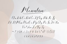 Monalisa (Font) by anytypeco · Creative Fabrica Punctuation, Premium Fonts, All Fonts, Photo Booth, Improve Yourself, Creative, Photos, Pictures