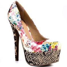 Womens Zigi Girl Printy Stiletto Heels Beige - $104.99 ONLY.