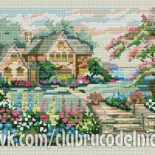 Gallery.ru / Все альбомы пользователя denise10 Cross Stitch Flowers, Cross Stitch Patterns, Cross Stitch Landscape, Painting, Xmas, Scenery, Projects, Painting Art, Paintings