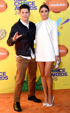 Nick Jonas and Olivia Culpo look stunning at the Kids' Choice Awards 2015--cute couple alert!