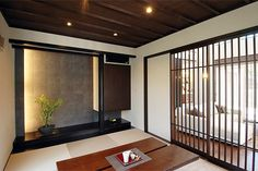 dark brown japanese room