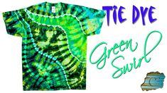 How to Tie Dye: Green Swirl [Ice Dye]